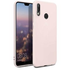 Чехол Silicone Cover Full Protective (AA) для Huawei P20 Lite, Розовый / Pink Sand