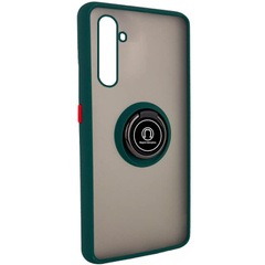 TPU+PC чехол Deen ColorEdgingRing for Magnet для Realme 6 Pro, Зеленый