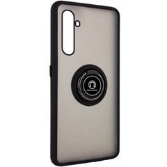 TPU+PC чехол Deen ColorEdgingRing for Magnet для Realme 6 Pro, Черный