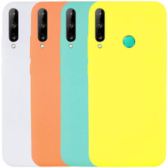 Чехол Silicone Cover Full without Logo (A) для Huawei P40 Lite E / Y7p (2020), Желтый / Flash