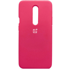 Чехол Silicone Cover Full Protective (AA) для OnePlus 7 Pro, Розовый / Hot Pink